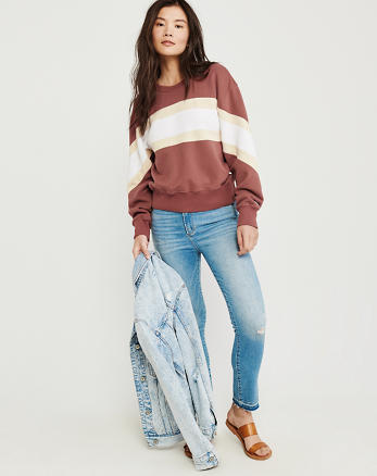 65293d76e428 Womens Crew Neck Sweatshirts