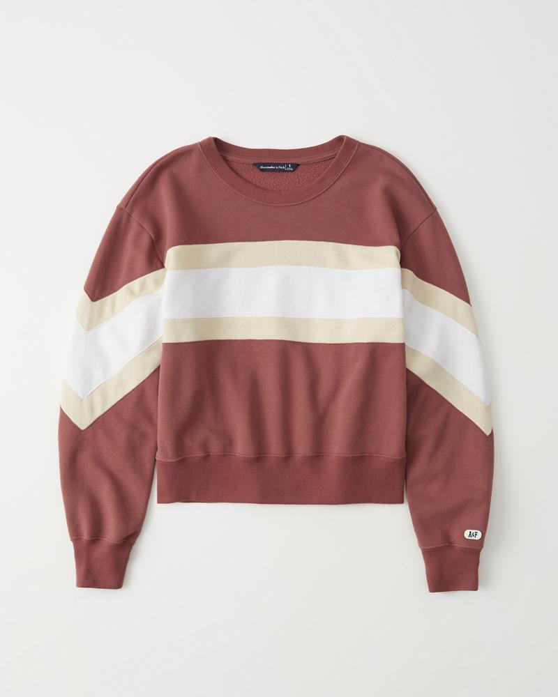 0713d8451d Womens Colorblock Crew Sweatshirt | Womens Tops | Abercrombie.com