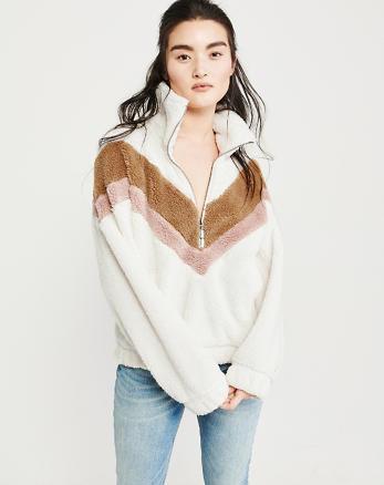 e33d3ab23f Colorblock Sherpa Half-Zip Sweatshirt
