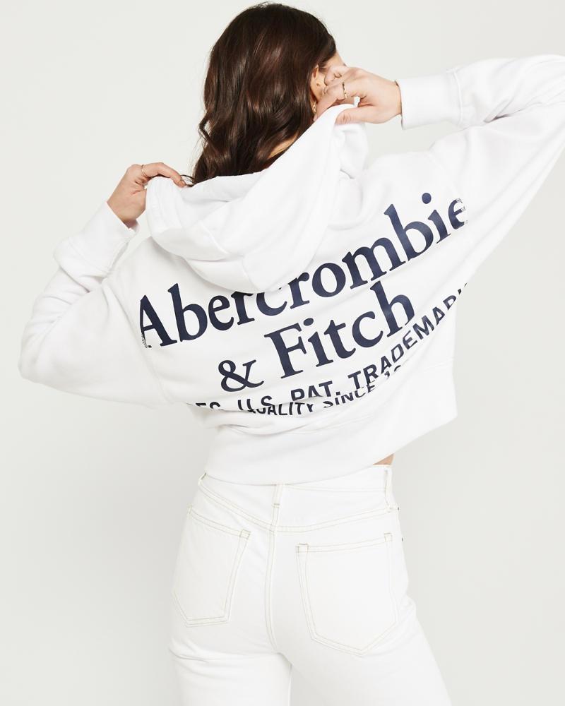 Femme Sweat à capuche zippé avec logo | Femme Réductions
