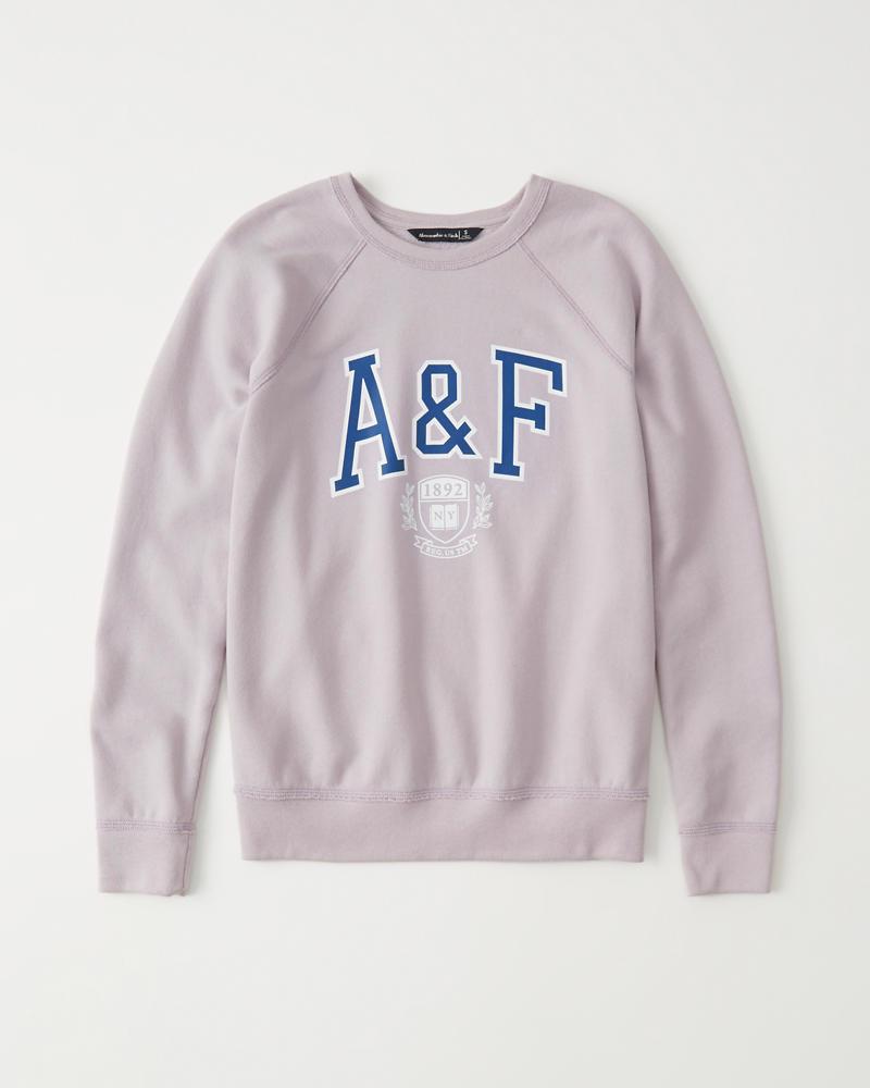 Print Logo Sweatshirt by Abercrombie & Fitch