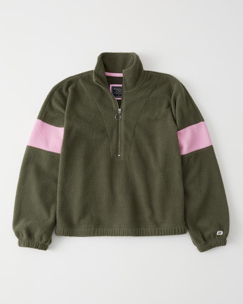 4657bc3b Womens Colorblock Sherpa Half-Zip Sweatshirt | Womens Sale ...