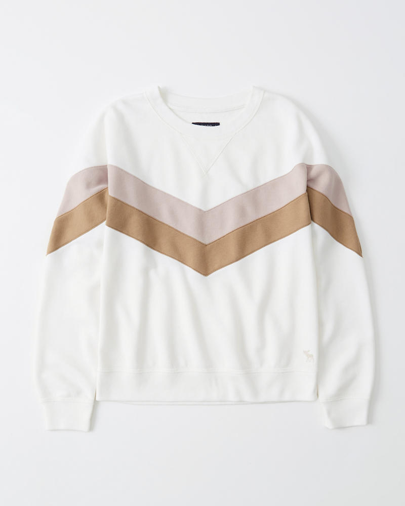 Soft A&F Colorblock Crew Sweatshirt by Abercrombie & Fitch