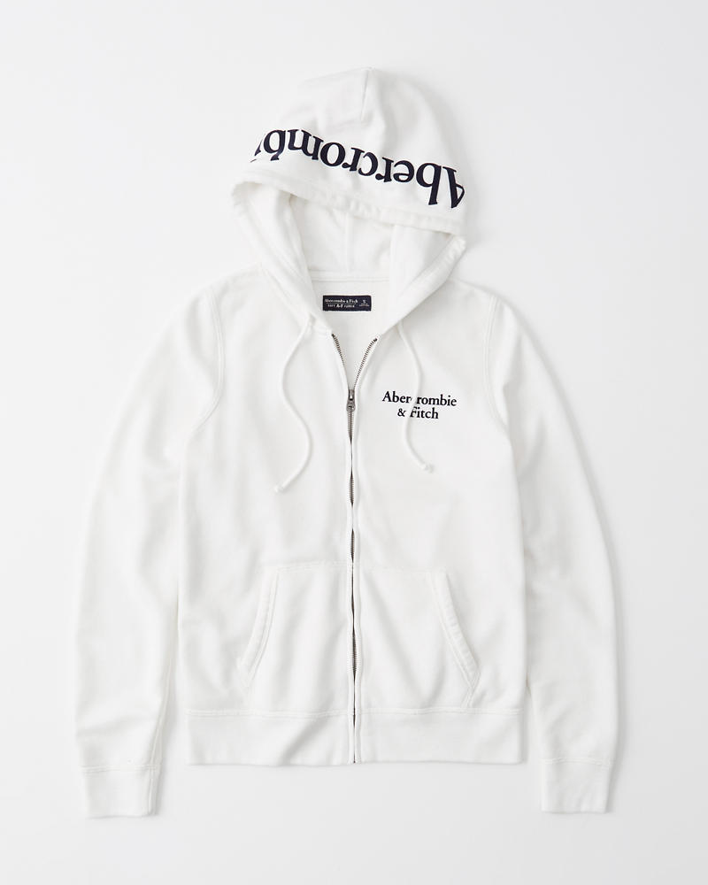 Womens Full Zip Logo Hoodie | Womens Tops |
