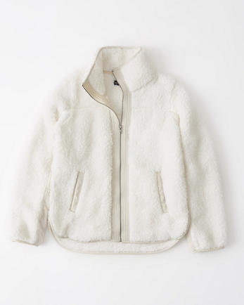 ANFFull-Zip Sherpa Fleece Jacket