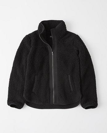 ANFFull-Zip Sherpa Fleece Jacket