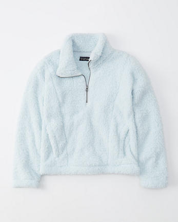 ANFHalf-Zip Sherpa Fleece Sweatshirt