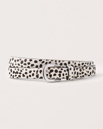 ANFAnimal Print Leather Belt