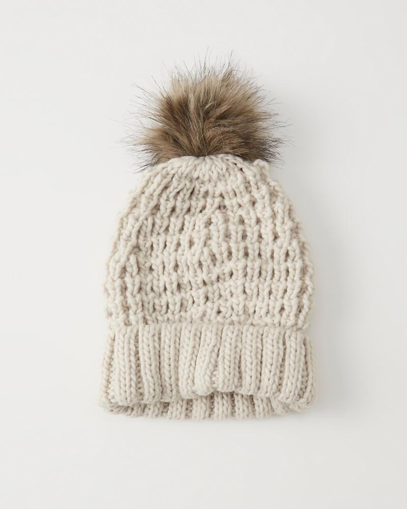 A&F Pom Knit Beanie