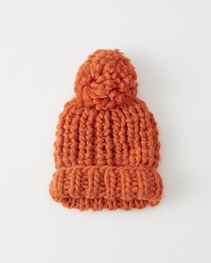 Abercrombie Chunky Knit Pom Beanie