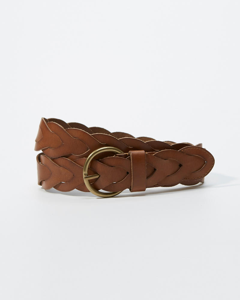 486470b1 Womens Braided Leather Belt | Womens Accessories | Abercrombie.com