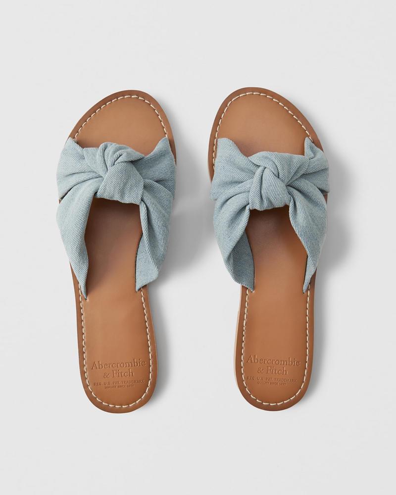c96c8eaba6d00d Womens Knot Slide Sandals
