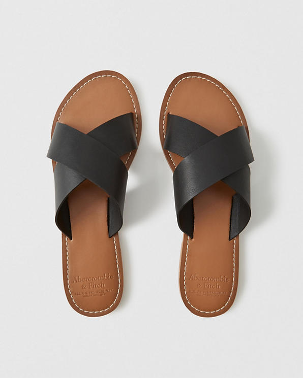 a69ee1e94 Mujer Sandalias sin cierre con tiras | Mujer Zapatos | Abercrombie.com