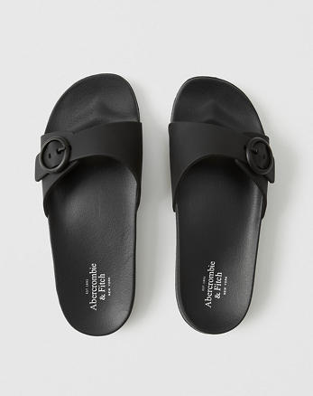 a8fd04d3e596 Rubber Buckle Slide Sandals