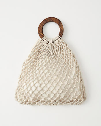 Abercrombie & Fitch Macrame Tote