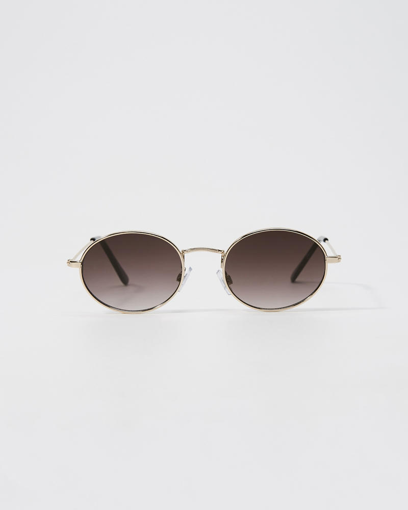 Gold Round Sunglasses by Abercrombie & Fitch