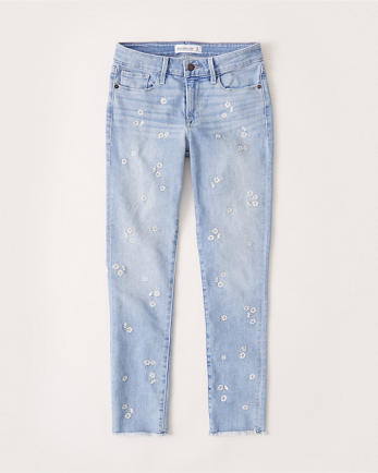ANFMid Rise Super Skinny Ankle Jeans
