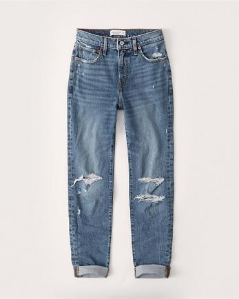 ANFMid Rise Boyfriend Jeans