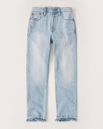 ANFHigh Rise Ankle Mom Jeans