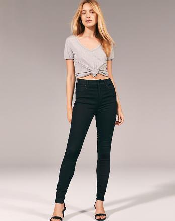 Jean super skinny taille haute, NOIR e0d5ddbb1a50