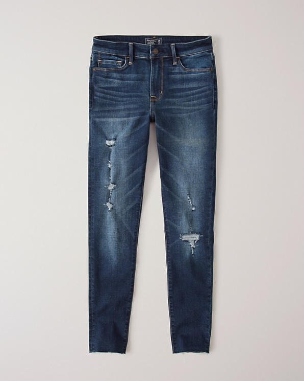 40ccaee301 Womens Ripped Low Rise Ankle Jeans | Womens Clearance | Abercrombie.com