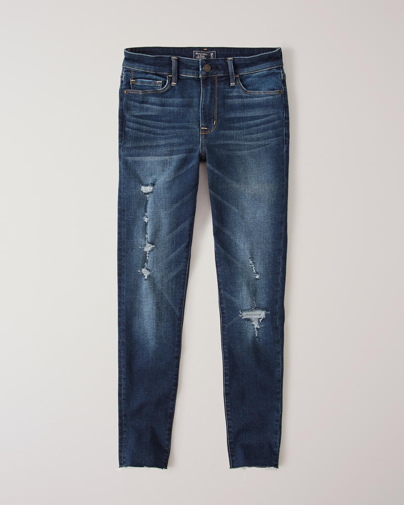 16d423cc3 Womens Ripped Low Rise Ankle Jeans | Womens Clearance | Abercrombie.com
