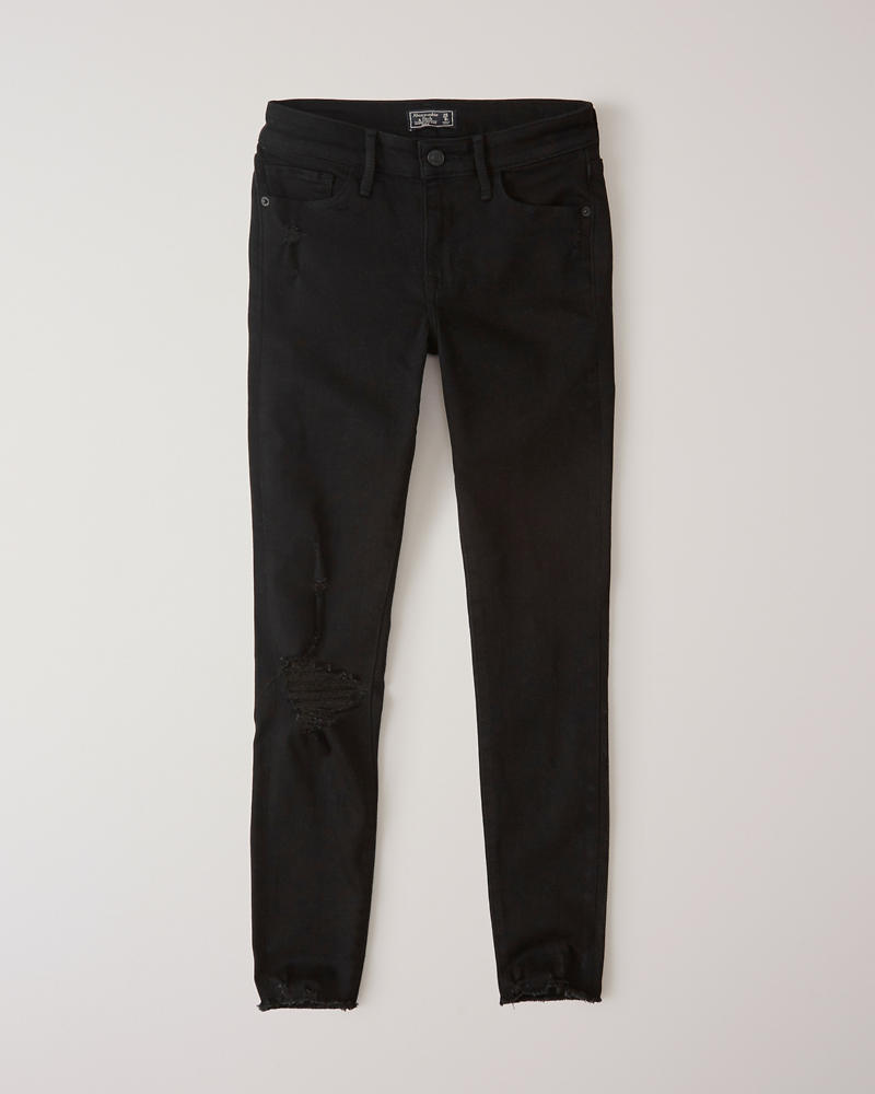 0a48d84c202 Womens Ripped Low Rise Ankle Jeans | Womens Bottoms | Abercrombie.com