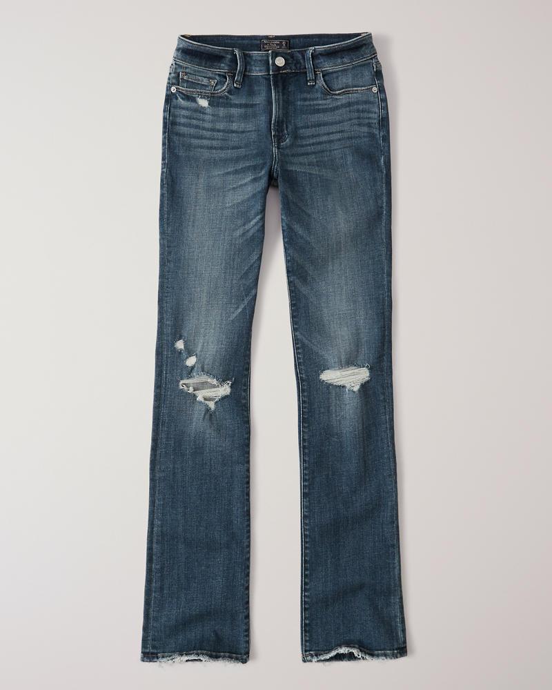 6eefa8a809 Mujer Jeans rasgados corte bota de tiro bajo