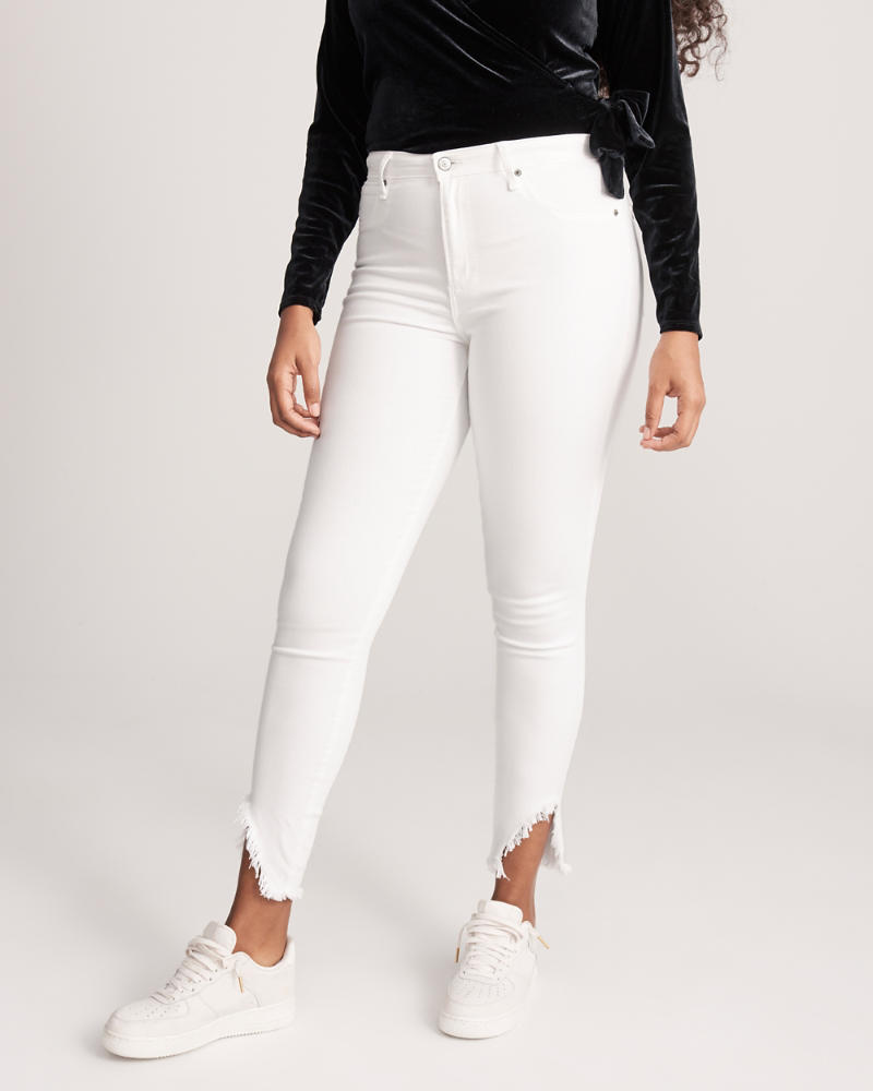 High Rise Knöcheljeans by Abercrombie & Fitch