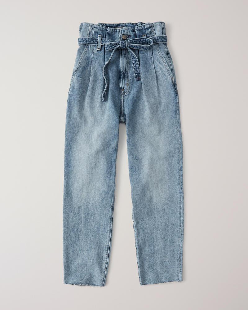 a8e64eab86b0 Womens Paperbag Waist Jeans