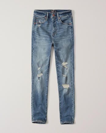 ANFRipped High Rise Super Skinny Ankle Jeans
