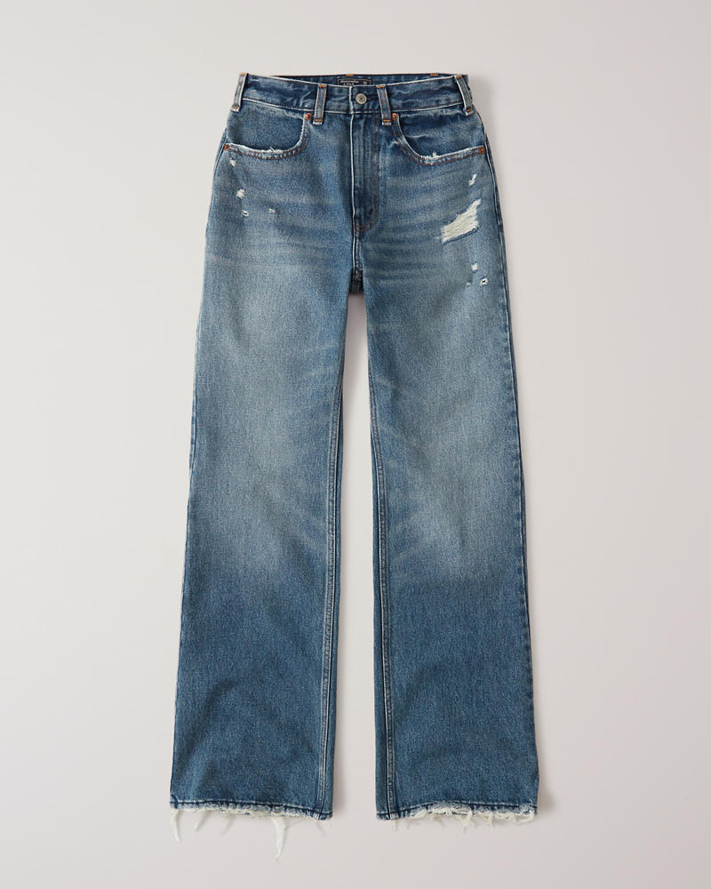 79c1aaf1a3 High Rise Wide Leg Jeans | Abercrombie.sg