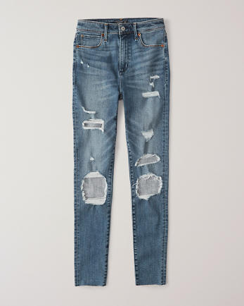 ANFRipped High Rise Super Skinny Jeans
