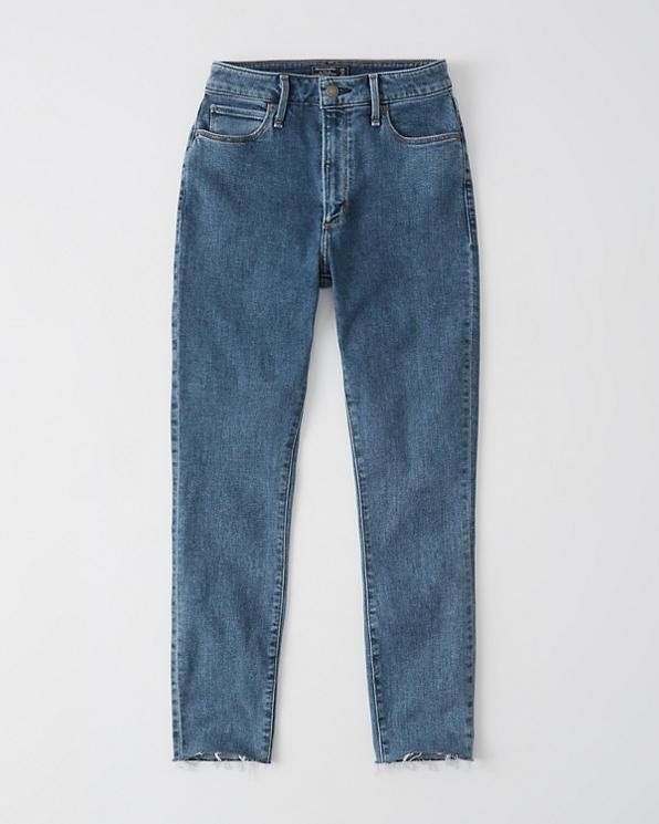 81f8eae544 Femme Jean taille haute longueur cheville | Femme Bas | Abercrombie.com
