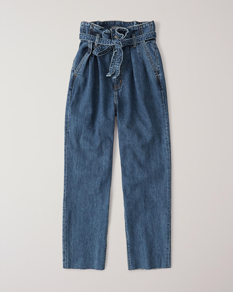 Jeans Met Bandplooi by Abercrombie & Fitch