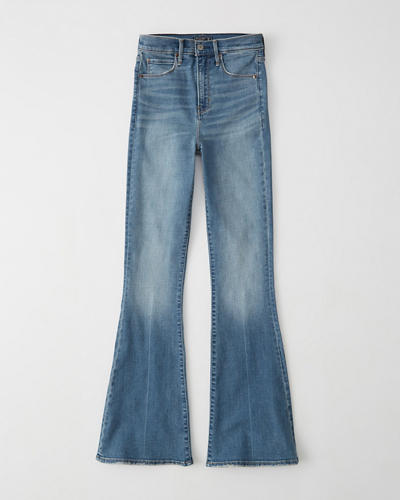 Ultra High Rise Flare Jeans by Abercrombie & Fitch