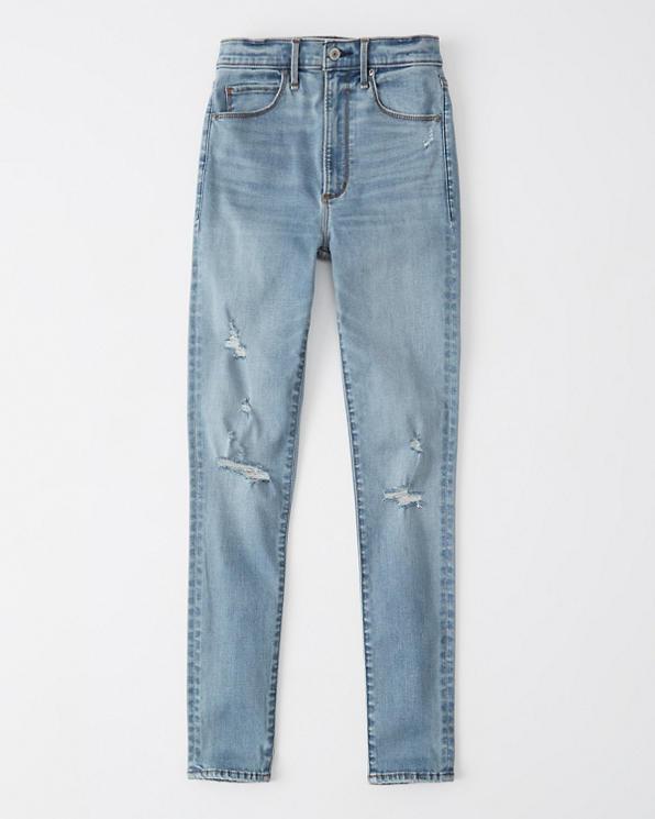 Hollister Damen Low Rise Jeans Leggings Unterteile LIGHT
