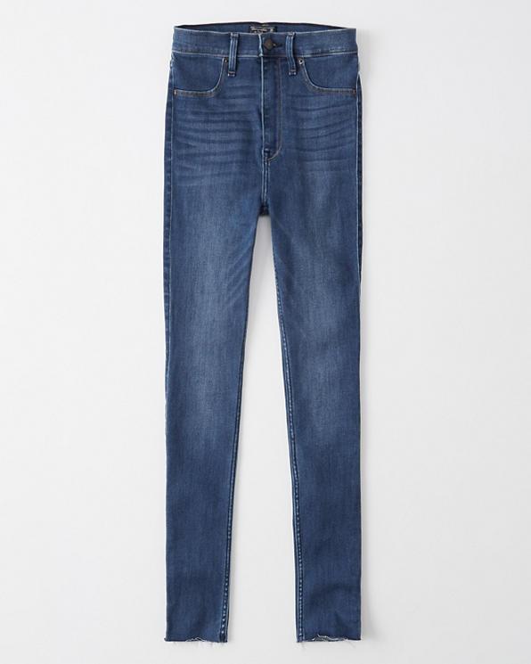 Damen Ultra High Rise Jeans Leggings   Damen Unterteile