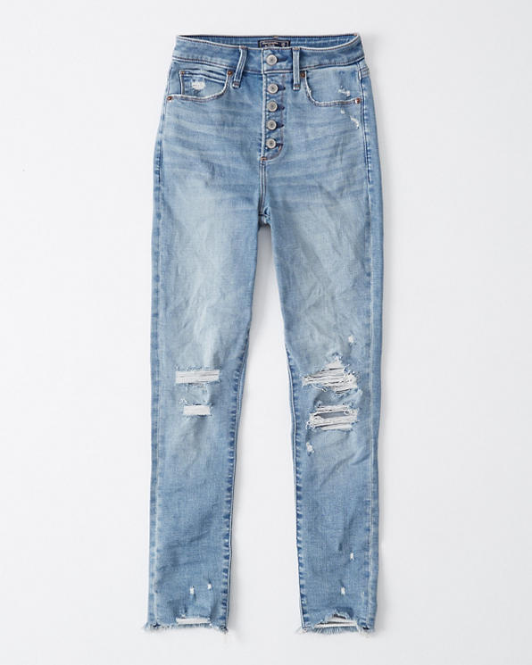 hot-selling real release date how to get Womens Curve Love Ripped High Rise Super Skinny Ankle Jeans ...