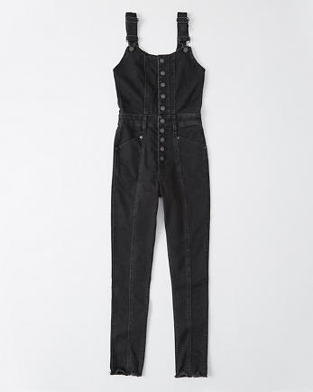 ANFUltra High Rise Mom Overalls