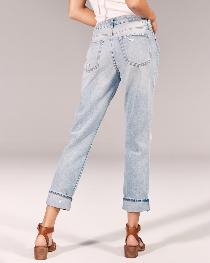 Mujer Jeans Boyfriend De Tiro Bajo Mujer Partes Inferiores