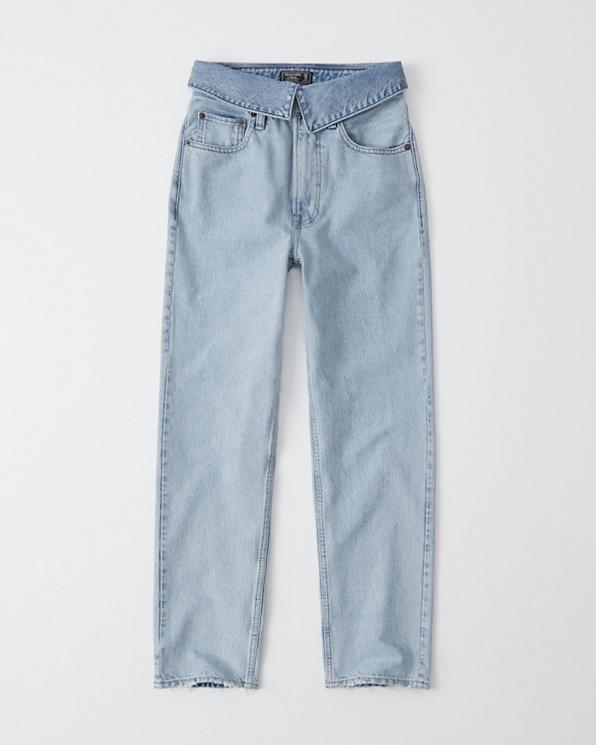 Damen Lässige Ultra High Rise Mom Jeans   Damen Unterteile