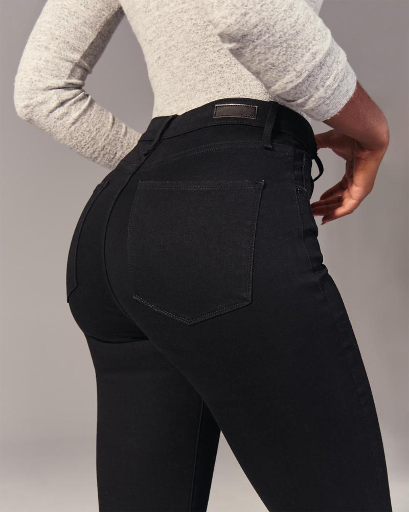 Donna Leggings di jeans a vita alta   Donna Pezzi di sotto