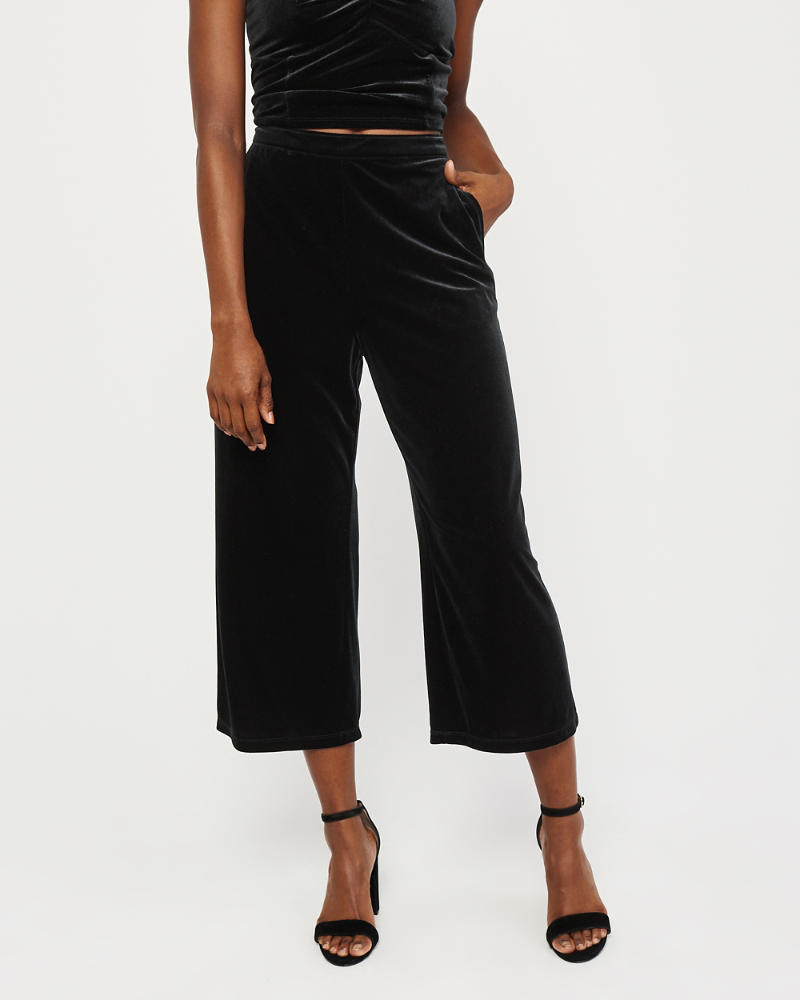 1bcd869ebf Womens Velvet Wide-Leg Pants | Womens Clearance | Abercrombie.com