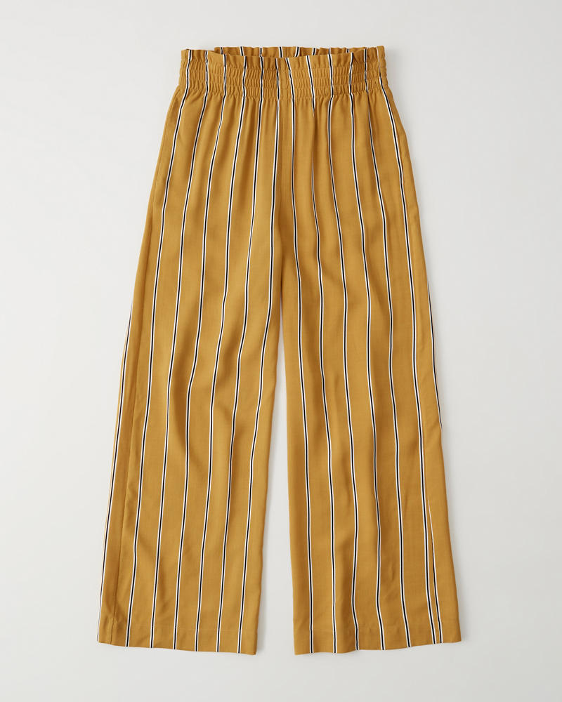 Paperbag Waist Wide Leg Pants by Abercrombie & Fitch