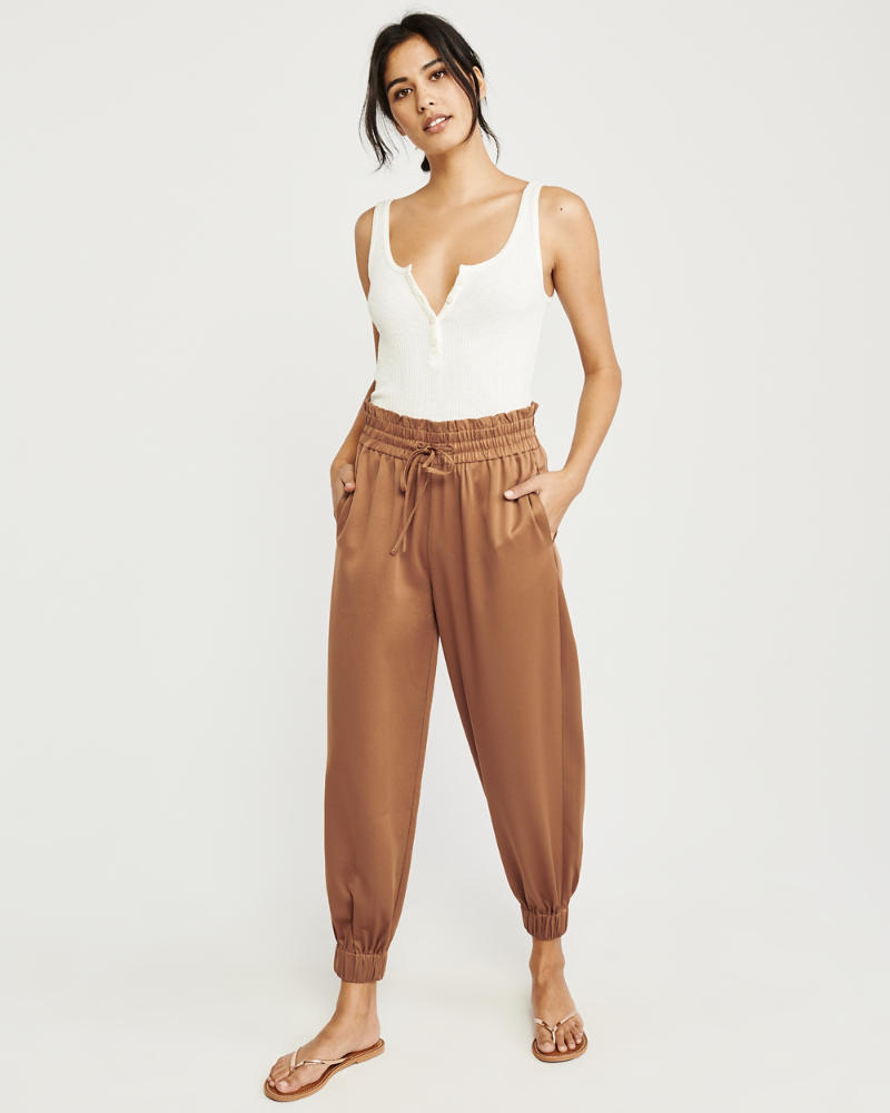 b22363b56e6 Womens Drapey Satin Joggers | Womens 50% Off Throughout The Store ...