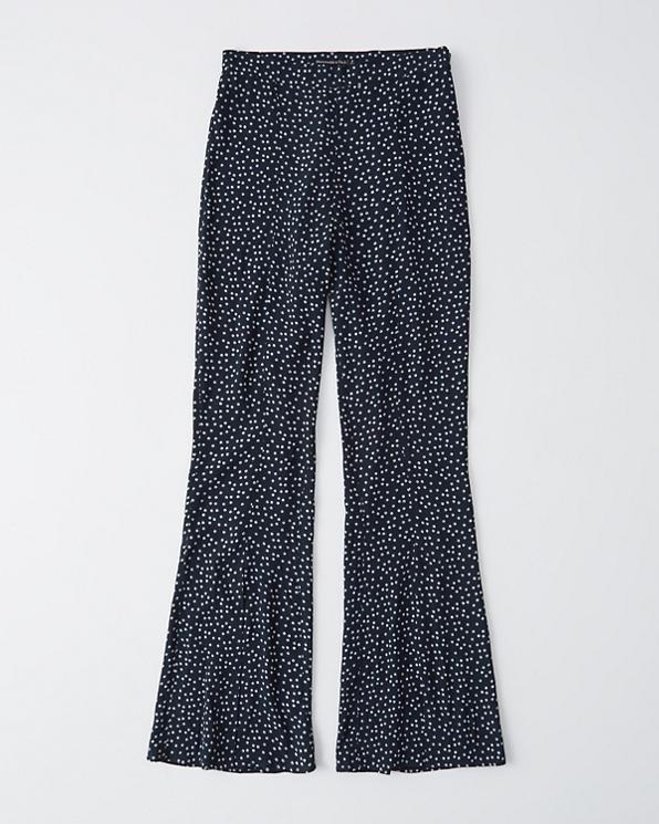 37fadb552a87e2 Womens Crepe Flare Pants | Womens Clearance | Abercrombie.com