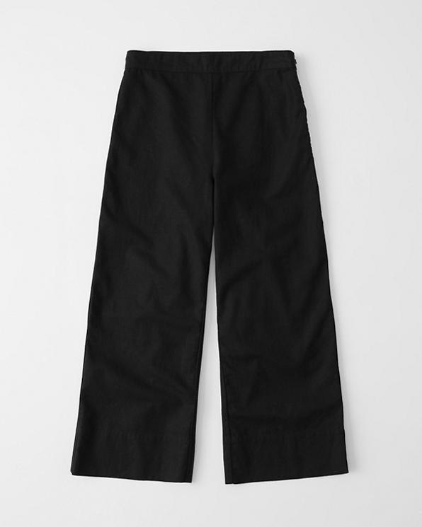 better new arrive competitive price Womens Cropped Ultra High Rise Linen-Blend Pants | Womens ...