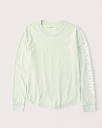 ANFLong-Sleeve Print Logo Tee