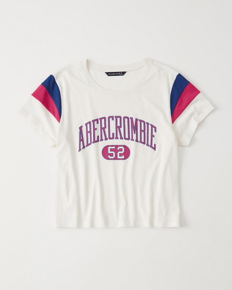 b07726c6e7b3b3 Dames T-shirt met varsity-logo | Dames Sale | Abercrombie.com